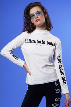 חולצת גולף קטיפה לבנה  BOYS