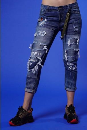 מכנסי ג'ינס קרעים STAR