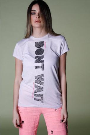 חולצת T בגוון סגלגל   DON'T