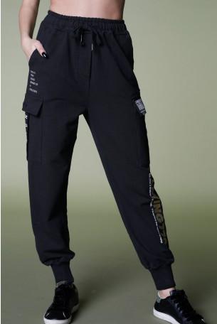 מכנסי פוטר שחורים  PLAYING