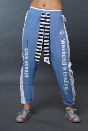 מכנסי ג'וגר בגוון כחול  WEEKEND