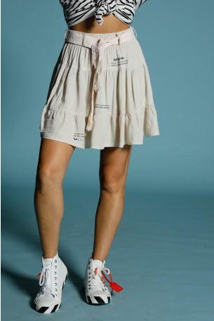 חצאית בז' מעוצבת HAND MADE