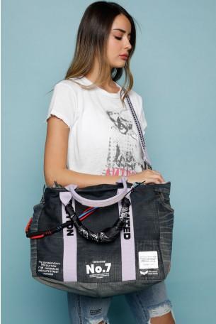 תיק צד ג'ינס מעוצב בסגנון וינטג' LIMITED