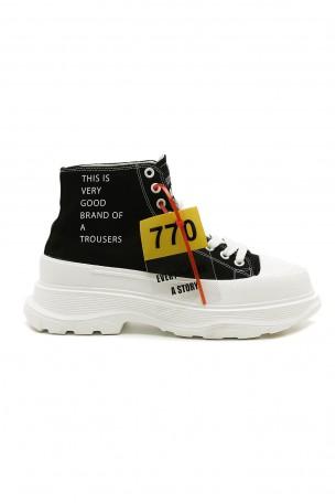 נעלי סניקרס שחורות GOOD BRAND
