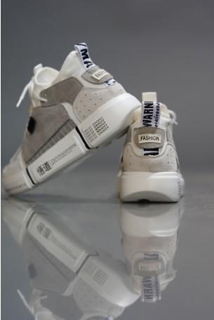 נעלי סניקרס גבוהות בגוונים אפורים COLOR BLOCK