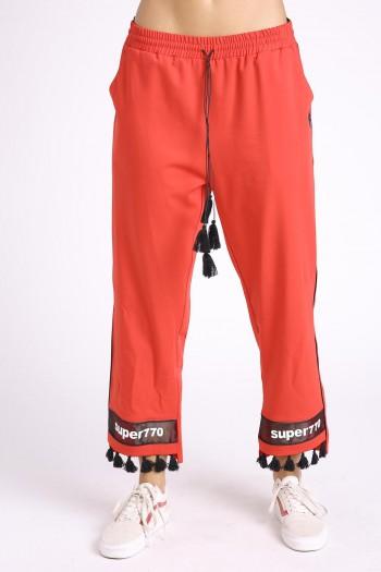 מכנסים אדומים פונפונים SUPER 770