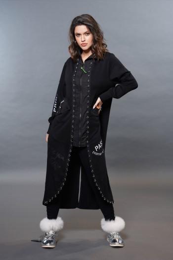 שמלת ג'קט עליונית שחורה  PASS