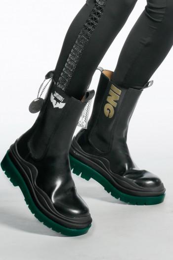 מגפיים גבוהים סוליה ירוקה PLAYING
