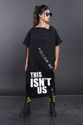 שמלה מעוצבת שחורה THIS