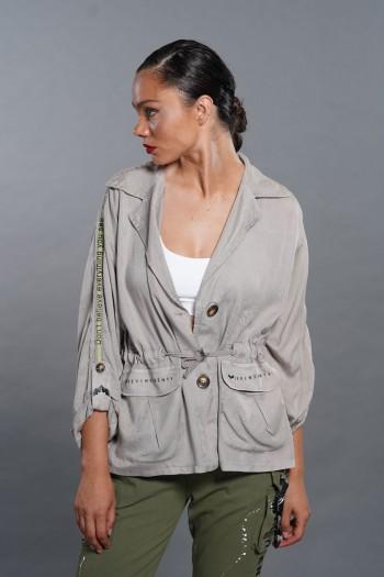 חולצת עליונית בגוון בז' אפור PICTURES