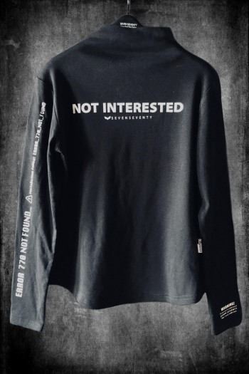 חולצת גולף שרוול ארוך NOT INTERESTED