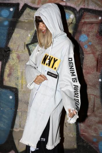 מעיל ג'ינס מעוצב NNY