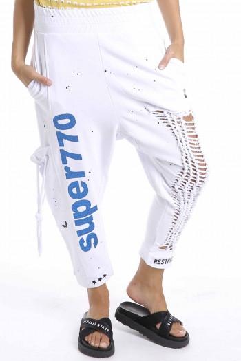 מכנסי פוטר לבנים קרעים SUPER 770