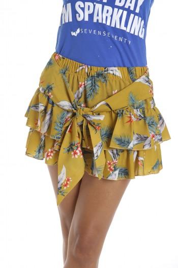 חצאית מיני פליסה פרחונית EVERY DAY