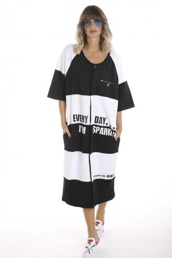 שמלת פסים מעוצבת EVERY DAY