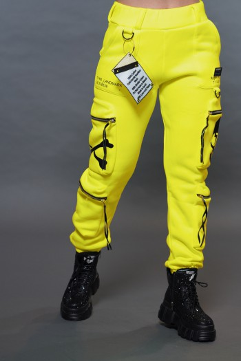מכנס פוטר צהוב נאון LANDMARK
