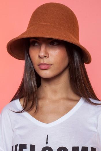 כובע רחב שוליים כתום-חמרה ORANGE