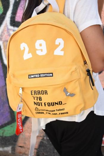 תיק גב בגוון צהוב ERROR