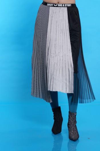חצאית פליסה גוונים STORY