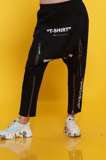 מכנסי שקי רוכסנים T-SHIRT