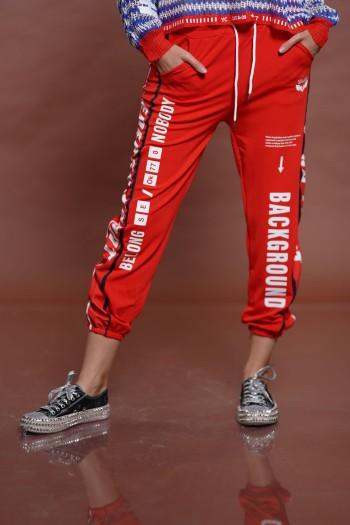 מכנס ג'וגר אדום BACKGROUND