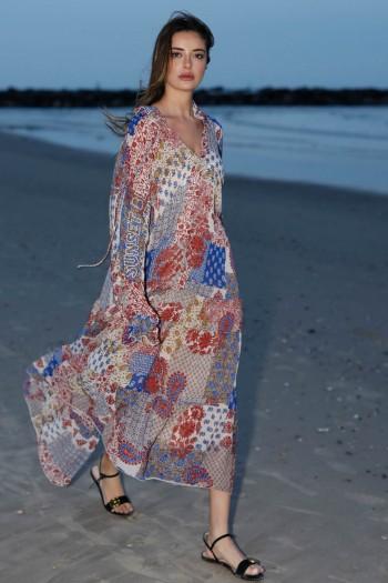 שמלת מקסי בוהו פרחונית ARE YOU