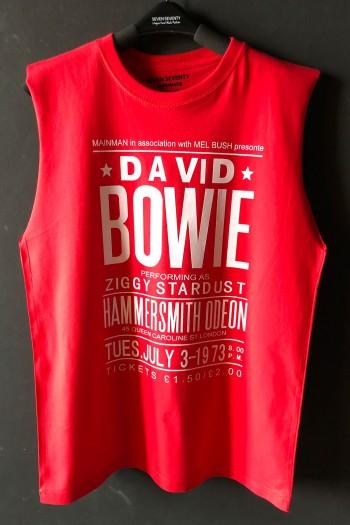חולצה אדומה ללא שרוול DAVID