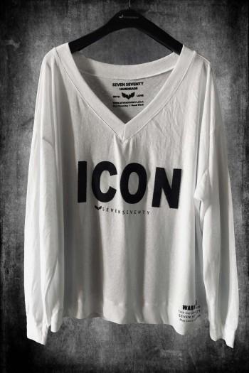 חולצה לבנה שרוול ארוך   ICON