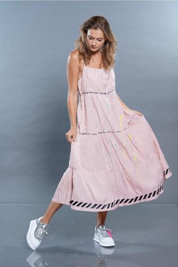 שמלה ורודה SEVEN