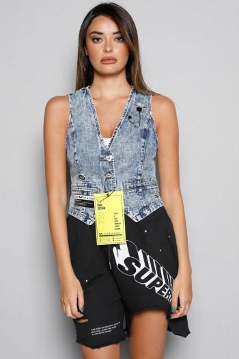 וסט ג'ינס בעיצוב מיוחד SPIRIT