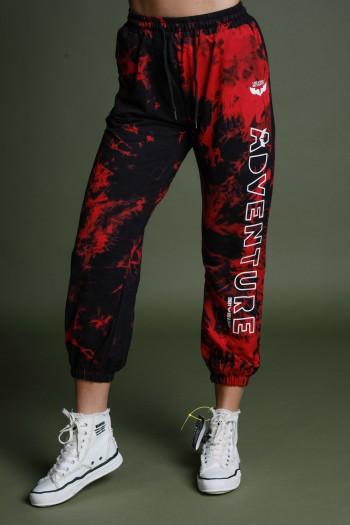 מכנסי פוטר בגווני שחור ואדום ADVENTURE