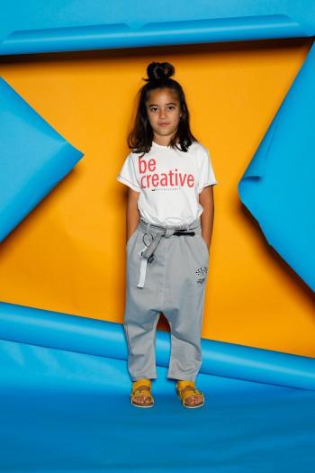 חולצת T לבנה לילדים BE CREATIVE
