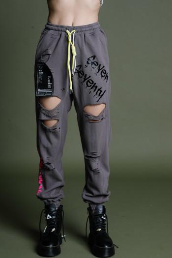 מכנסי פוטר אפורים קרעים ART