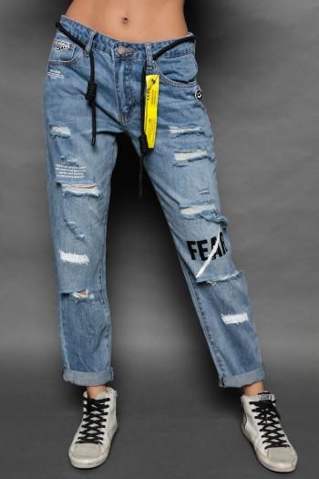 מכנסי ג'ינס קרעים FEAR