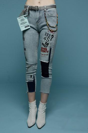 ג'ינס סקיני שילוב WAY OF LIFE