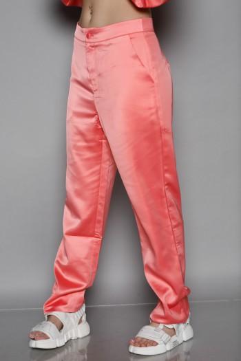 מכנסי סאטן מחויטים בגוון אפרסק SEVEN