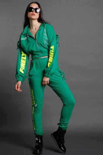 חליפת פוטר ג'קט ומכנס ירוקה TUNED