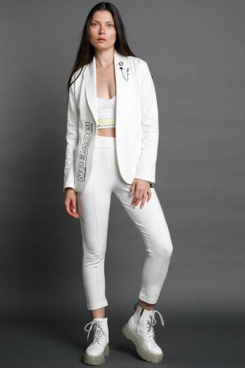 חליפת בלייזר ספורט אלגנט בגוון לבן שנהב MOVE ON