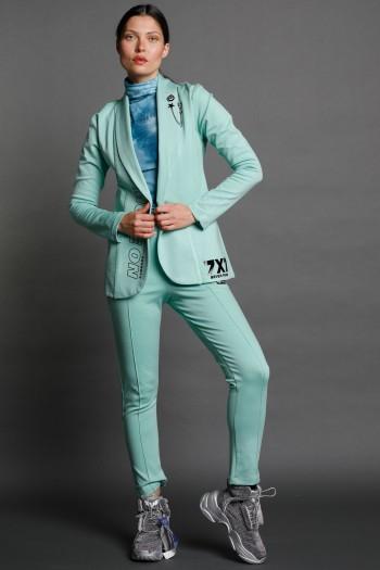 חליפת בלייזר ספורט אלגנט בגוון ירוק מנטה MOVE ON