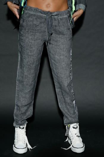 מכנסי פשתן אפורים ADDICTED