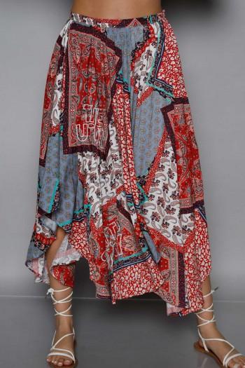 חצאית מידי בוהו צבעונית BOHO