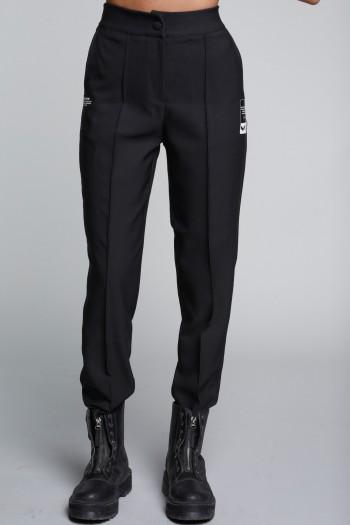 מכנסיים שחורים בגזרה מחויטת SEVEN