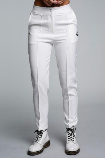 מכנסים לבנים בגזרה מחויטת SEVEN