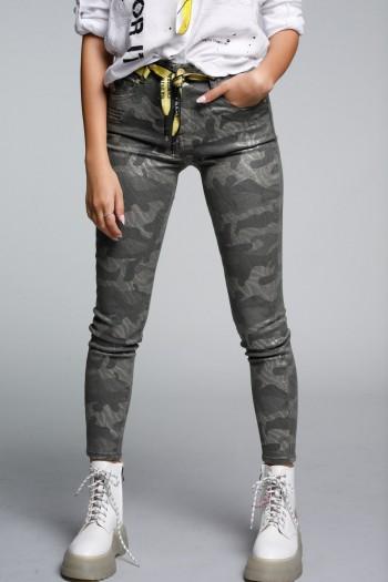 מכנסי ג'ינס הסוואה מבריקים WARNING