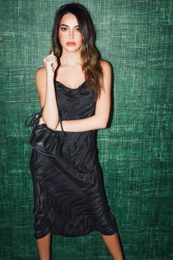 שמלת ערב שחורה ZEBRA