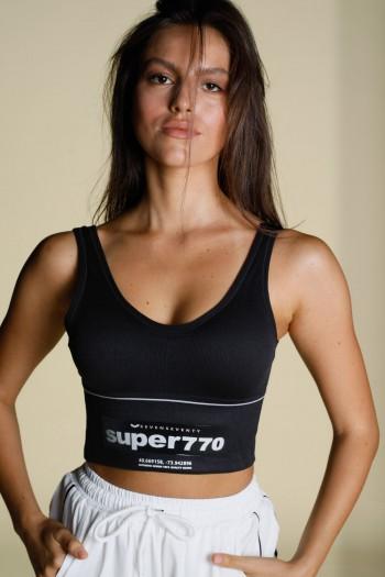 גופיית בטן שחורה SUPER