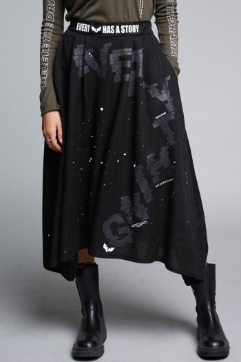 חצאית מידי שחורה EVERY