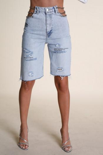 מכנסי ברמודה ג'ינס שרשראות CREATIVITY