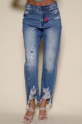 מכנסי ג'ינס קרעים WING
