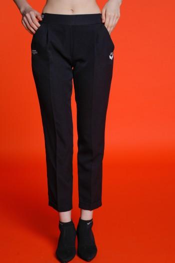 מכנסיים שחורים בגזרה מחויטת LIMITED